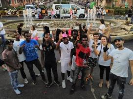 Algunes de les persones participants a la iniciativa que va començar l'1 de setembre