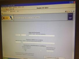 Pantalla inicial programa declaracions informatives