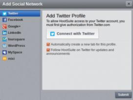 Amb Hootsuite podreu gestionar diferents xarxes socials a la vegada.