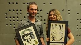 Xavier Aldekoa i Lola Hierro, guanyador/a de la X edició. Font: Fundipau