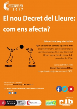 Cartell de la sessió informativa sobre el nou Decret del Lleure