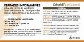 Xerrades informatives sobre impost de societats a Sabadell.