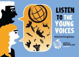 Enguany el Dia Mundial vol donar protagonisme a les persones joves  implicades en la defensa de la Natura (imatge:  wildlifeday.org)