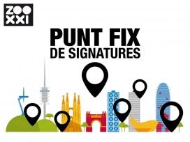 Es fa una crida per la recollida de signatures, i de espais que vulguin ser punts fixos on poder signar (imatge: zooxxi.org)