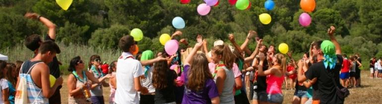 Piocam, trobada de joves entre 14 i 17 anys del Projecte 4vents, celebrada l'estiu del 2014 a Mallorca.