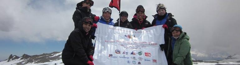 Les set alpinistes de Seven Summits Women Team