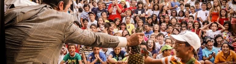 Teatre infantil de carrer. Font: Fira Mediterrània de Manresa