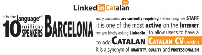 Campanya LinkedInCatalan de la Fundació puntCAT