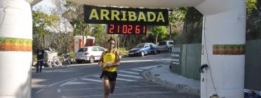 Arribada de Daniel Abate, guanyador de la 1a Cursa Solidària AFNE
