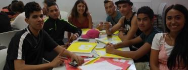 Activitat amb joves de l'associació ABD
