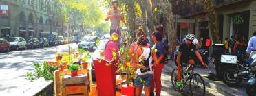Instal·lació a Sant Antoni (Park(ing) Day a Barcelona)