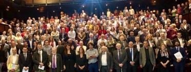 Foto de grup del lliurament dels Premis Pompeu Fabra 2018