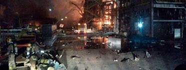 Imatge dels moments posteriors a l'explosió. Font: Bombers