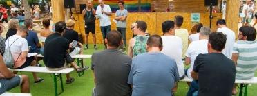 Lectura del manifest de l'OCH al Brunch-in the Park Barcelona