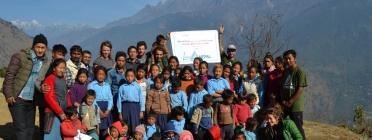 Membres del projecte a Nepal / Foto: Living Nepal
