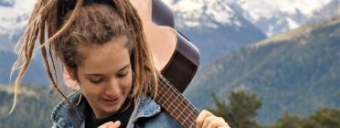 La cantautora en llengua occitana, Alidé Sans (Foto: viurealspirineus.cat) Font: Viurealspirineus.cat