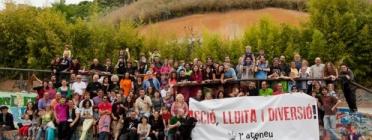 Participants de l'Ateneu Popular 9 Barris. Font: Plana web de l'Ateneu Popular 9 Barris - http://www.ateneu9b.net