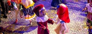 Balls de l'Àliga, els Capgrossos i els Gegants de Girona. Font: Ajuntament de Girona
