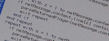 Fotografia que mostra el codi font d'un programa