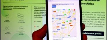L'app permet estar informats de la contaminació de l'aire en temps real i fer-ne difusió