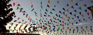 Decoració de festa major. Font: Núria, Flickr