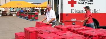 Equip de la Creu Roja americana.