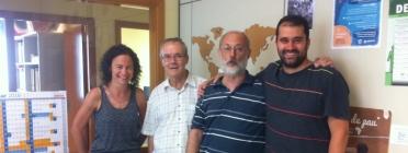 Xavi Costa, a la dreta de l'imatge.