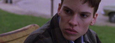 "Frame ""Boys Don't Cry"" (1999, Kimberly Peirce) Font: Letterboxd"