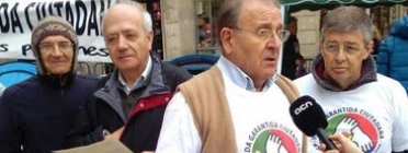 Diosdado Toledano en un acte de protesta. Font: Comissió promotora de la ILP per a la RGC