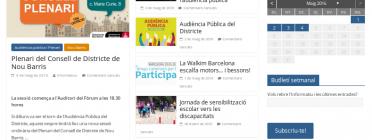 Nou aspecte del portal d'entitats del districte de Nou Barris