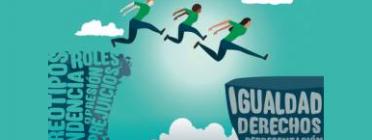 Detall del cartell sobre el Dia de la Dona del Ministerio de Sanidad, Servicios Sociales e Igualdad