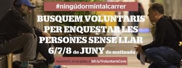 Crida de voluntariat per realitzar el cens de persones sense llar d'Arrels