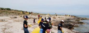 Participants a Clean Up The Med.  Moviment Escolta i Guiatge de Mallorca / Foto: 4vents
