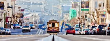 Tramvia de San Francisco amb símbol