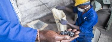 Treballadors en les mines de la República Democràtica del Congo. Font: Justícia i Pau