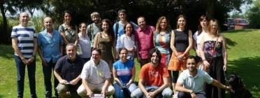 Foto de grup de representants d'entitats dins el 'm4Social'