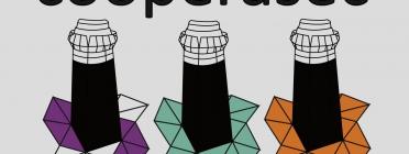 Logotip de la iniciativa amb un ail·lustració: solidaritat, equitat, comunitat