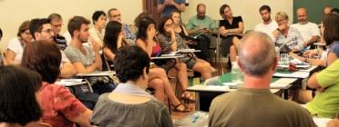 Alumnes en una classe formativa