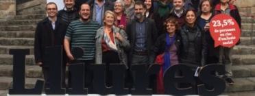 Representants de les entitats que van presentar el projecte Lliures a principis de desembre. Font: Projecte Lliures