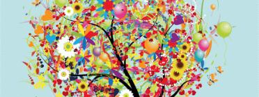 Detall d'un cartell de la Festa de la Primavera de l'EBM Can Caralleu