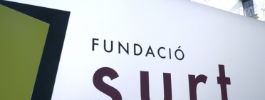 Rètol amb el logo de la Fundació Surt