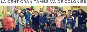 """""""La gent gran també va de colònies!"""", la campanya de micromecenatge de la Fundació La Vinya."""
