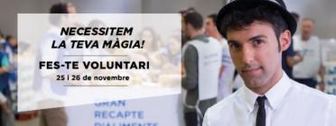 Crida de Voluntariat Gran Recapte.  Font: Banc dels Aliments.