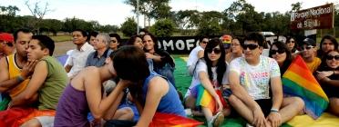 Protesta contra l'homofòbia.