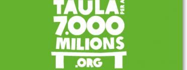 """Imatge eslògan """"Taula per a 7.000 milions"""""""