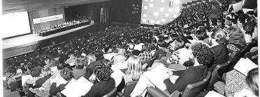 Públic en un auditori en un acte del Congrés de Cultura Catalana