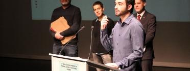 Un dels autors dels TFG premiats