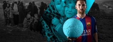 Leo Messi dona suport a la campanya #SignAndPass per donar suport als infants refugiats