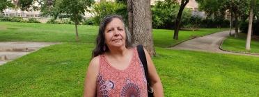 Luz Marina Hache, defensora dels Drets Humans a Colòmbia. Font: Carlos Faneca