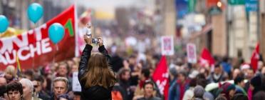 Manifestació. Font: Wikimedia